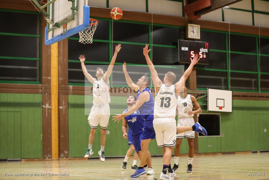 Sebastian Hilpert, Maurizio Menini, Andre Maier, 23.11.2019, Basketball Bezirksoberliga, SV Oberdürrbach, TSV Karlstadt - Bild-ID: 2270675
