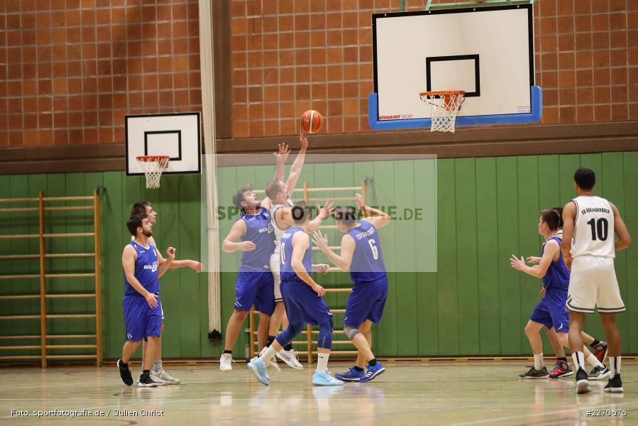 Andre Maier, Marco Passlack, Sebastian Hilpert, 23.11.2019, Basketball Bezirksoberliga, SV Oberdürrbach, TSV Karlstadt - Bild-ID: 2270676
