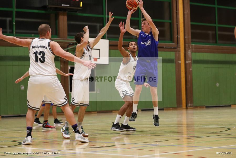 Michael Sauer, Maurizio Menini, 23.11.2019, Basketball Bezirksoberliga, SV Oberdürrbach, TSV Karlstadt - Bild-ID: 2270680