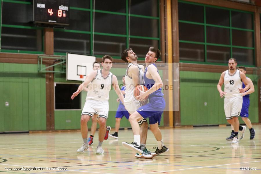Michael Sauer, Maurizio Menini, 23.11.2019, Basketball Bezirksoberliga, SV Oberdürrbach, TSV Karlstadt - Bild-ID: 2270682