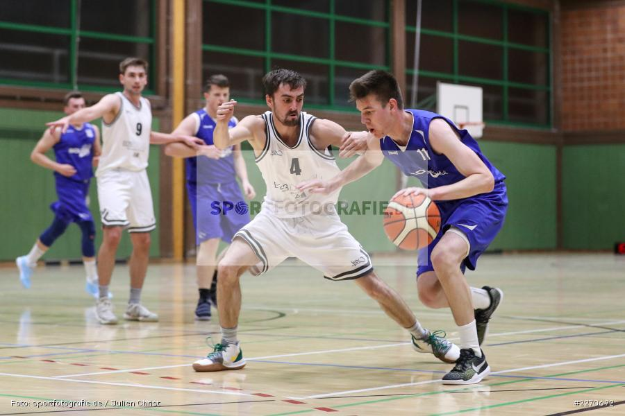 Maurizio Menini, Michael Sauer, 23.11.2019, Basketball Bezirksoberliga, SV Oberdürrbach, TSV Karlstadt - Bild-ID: 2270692