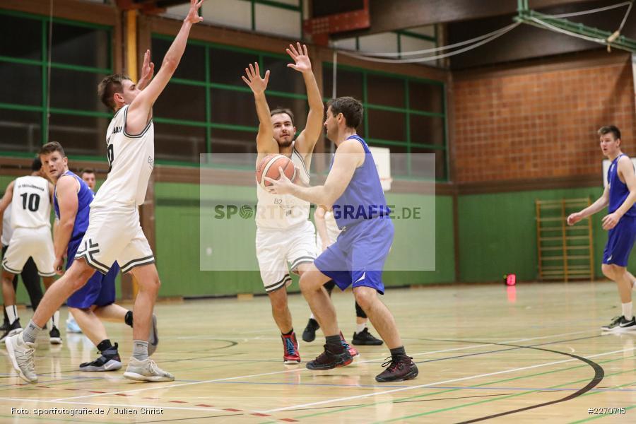 Lukas Hilpert, Tilmann Christof, Sebastian Kunz, 23.11.2019, Basketball Bezirksoberliga, SV Oberdürrbach, TSV Karlstadt - Bild-ID: 2270715