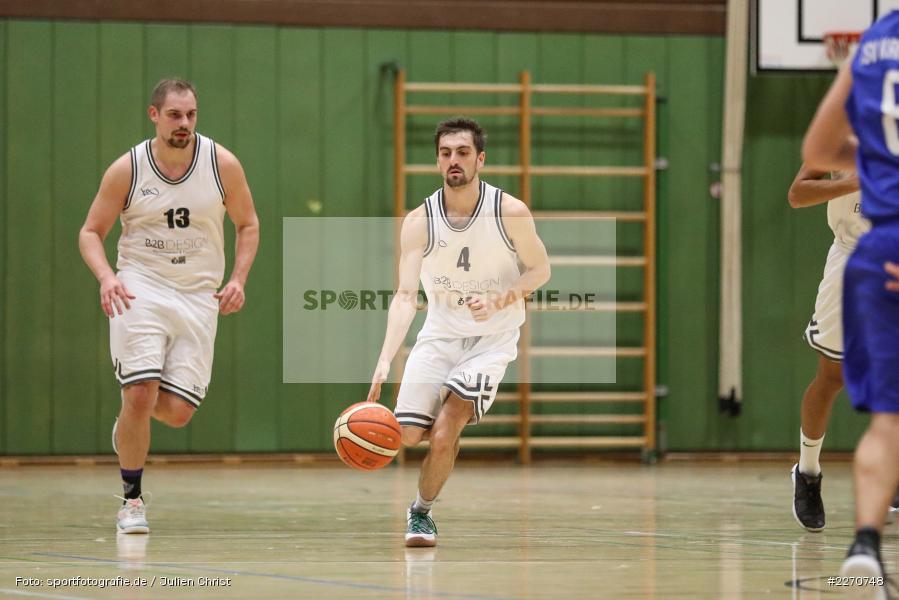 Sebastian Hilpert, Maurizio Menini, 23.11.2019, Basketball Bezirksoberliga, SV Oberdürrbach, TSV Karlstadt - Bild-ID: 2270748