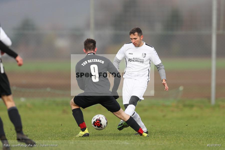 Gabriel Nunn, Adrian Freier, 24.11.2019, A-Klasse Würzburg Gr. 6, TSV Karlburg III, TSV Retzbach II - Bild-ID: 2270792