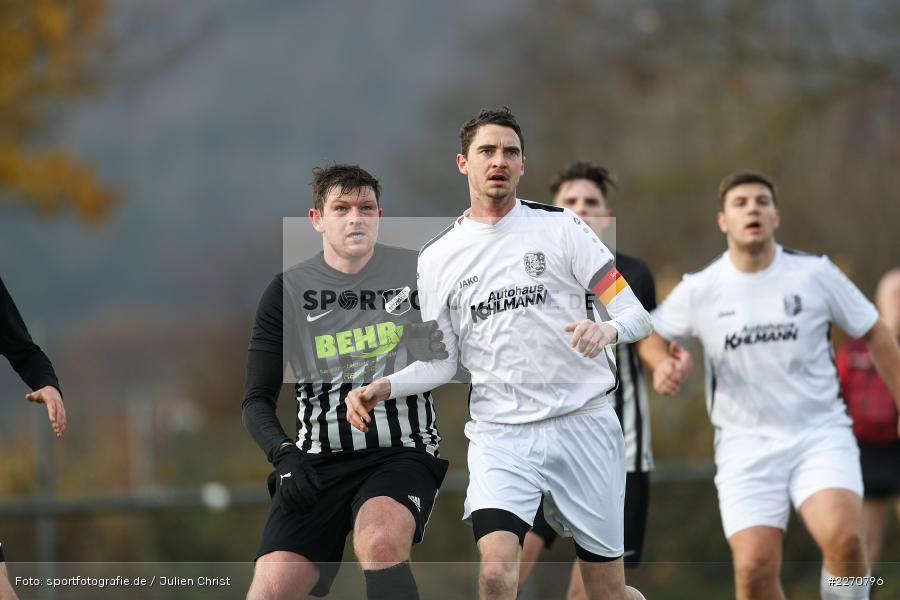 Simon Wichmann, Frank Eisenbacher, 24.11.2019, A-Klasse Würzburg Gr. 6, TSV Karlburg III, TSV Retzbach II - Bild-ID: 2270796