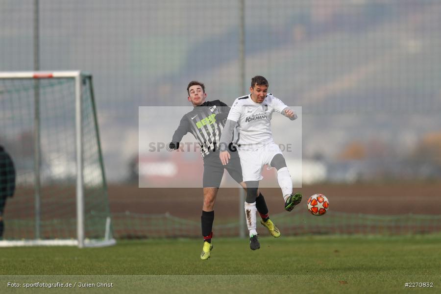 Gabriel Nunn, Adrian Freier, 24.11.2019, A-Klasse Würzburg Gr. 6, TSV Karlburg III, TSV Retzbach II - Bild-ID: 2270832