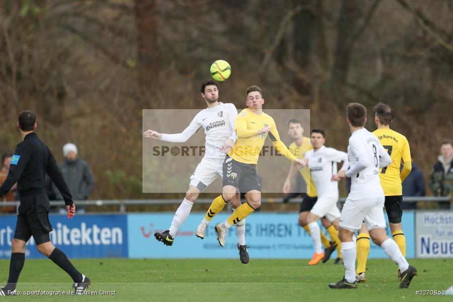 Patrik Kavalir, Cedric Fenske, Bayernliga Nord 30.11.2019, SpVgg Bayern Hof, TSV Karlburg - Bild-ID: 2270862