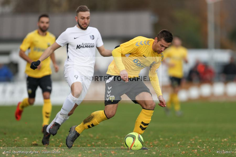Ferdinand Seifert, Sebastian Stumpf, Bayernliga Nord 30.11.2019, SpVgg Bayern Hof, TSV Karlburg - Bild-ID: 2270867