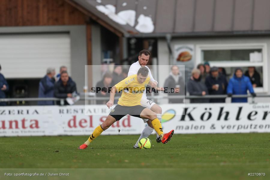 Adam Sevcik, Maurice Kübert, Bayernliga Nord 30.11.2019, SpVgg Bayern Hof, TSV Karlburg - Bild-ID: 2270870