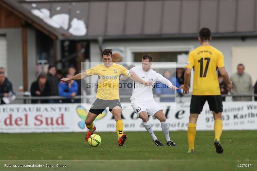 Adam Sevcik, Maurice Kübert, Bayernliga Nord 30.11.2019, SpVgg Bayern Hof, TSV Karlburg - Bild-ID: 2270871
