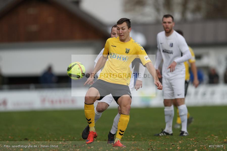 Josef Burghard, Adam Sevcik, Maurice Kübert, Bayernliga Nord 30.11.2019, SpVgg Bayern Hof, TSV Karlburg - Bild-ID: 2270875