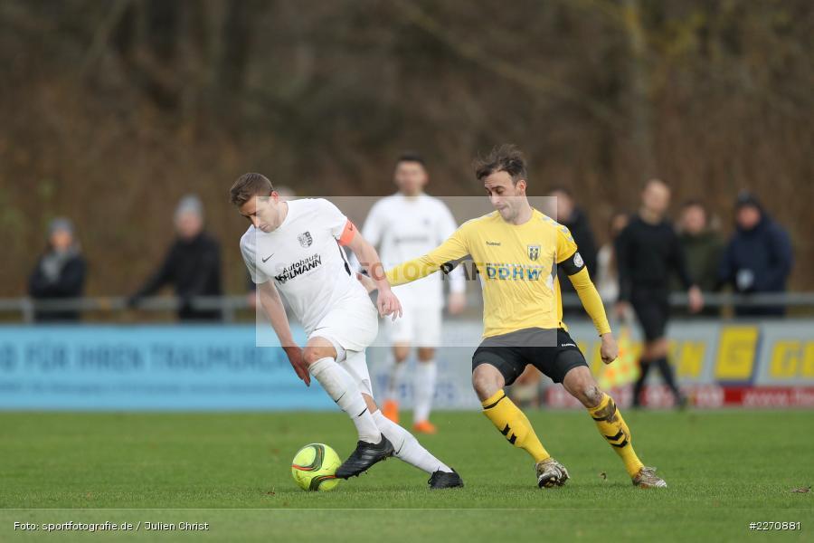 Christian Schraps, Manuel Römlein, Bayernliga Nord 30.11.2019, SpVgg Bayern Hof, TSV Karlburg - Bild-ID: 2270881