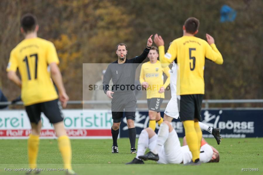 Christopher Schwarzmann, Bayernliga Nord 30.11.2019, SpVgg Bayern Hof, TSV Karlburg - Bild-ID: 2270883