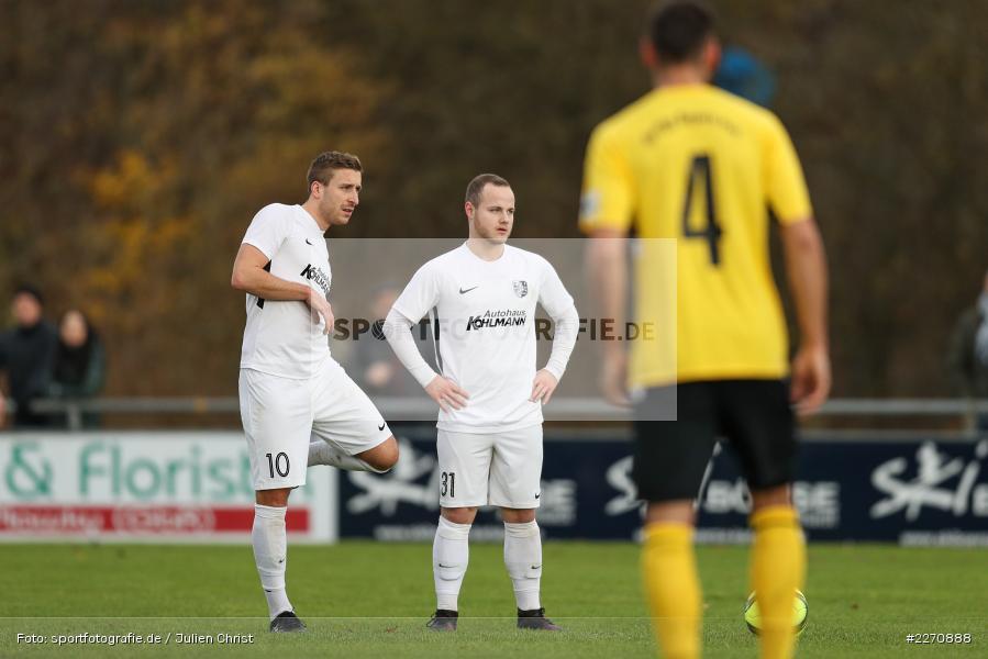 Josef Burghard, Manuel Römlein, Bayernliga Nord 30.11.2019, SpVgg Bayern Hof, TSV Karlburg - Bild-ID: 2270888