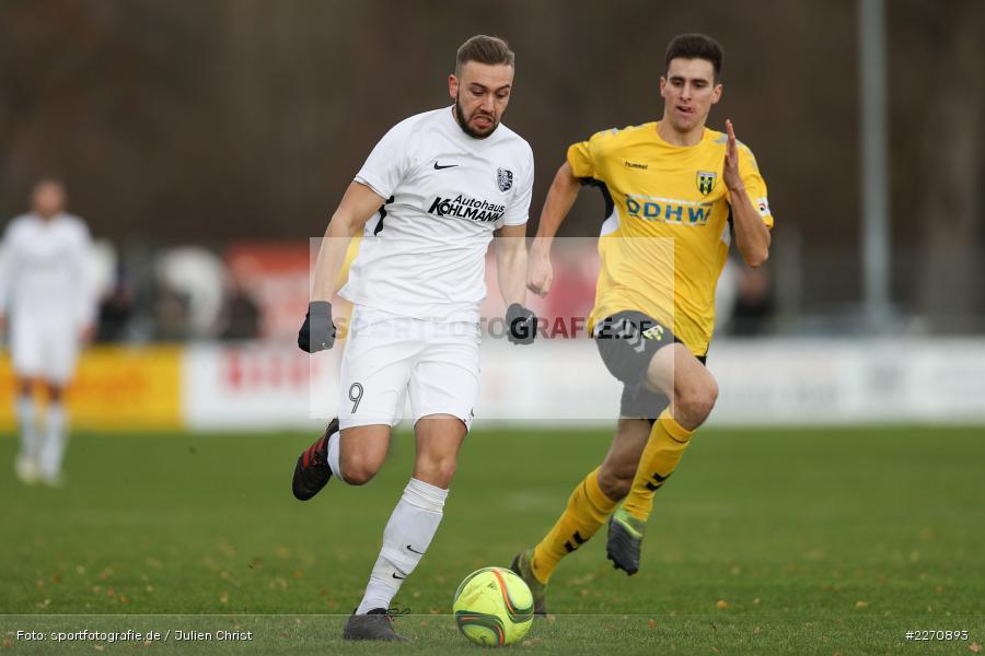 Fabian Krantz, Sebastian Stumpf, Bayernliga Nord 30.11.2019, SpVgg Bayern Hof, TSV Karlburg - Bild-ID: 2270893