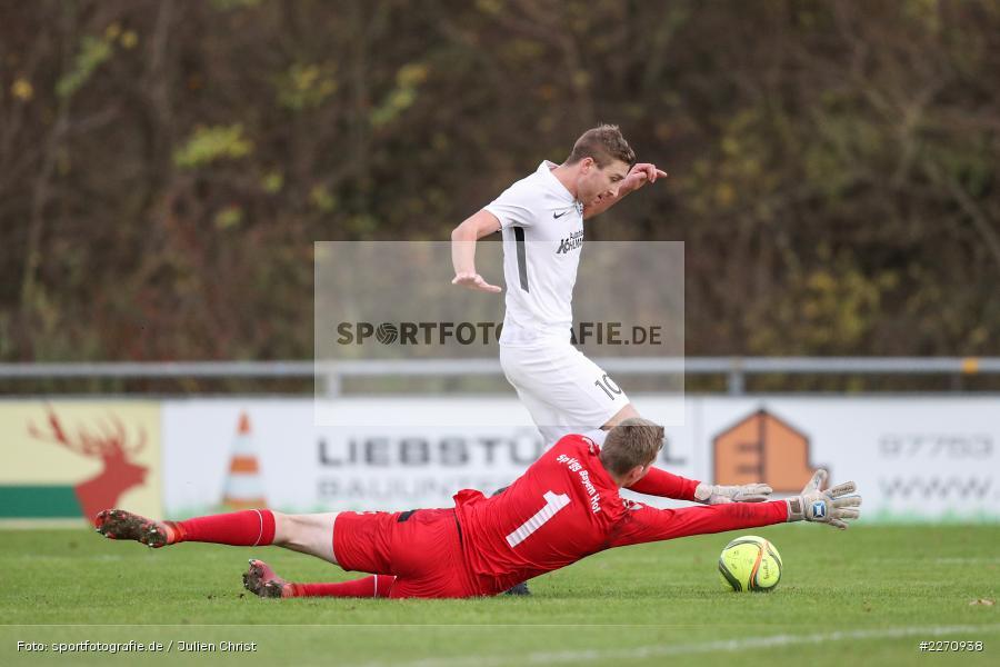 Manuel Römlein, David Guyon, Bayernliga Nord 30.11.2019, SpVgg Bayern Hof, TSV Karlburg - Bild-ID: 2270938