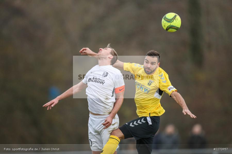 Ondrej Chocholousek, Manuel Römlein, Bayernliga Nord 30.11.2019, SpVgg Bayern Hof, TSV Karlburg - Bild-ID: 2270957