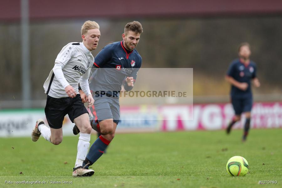Jannik Scheblein, Maximilian Strick, 01.12.2019, Kreisliga Würzburg, SG Hettstadt, TSV Karlburg II - Bild-ID: 2270980