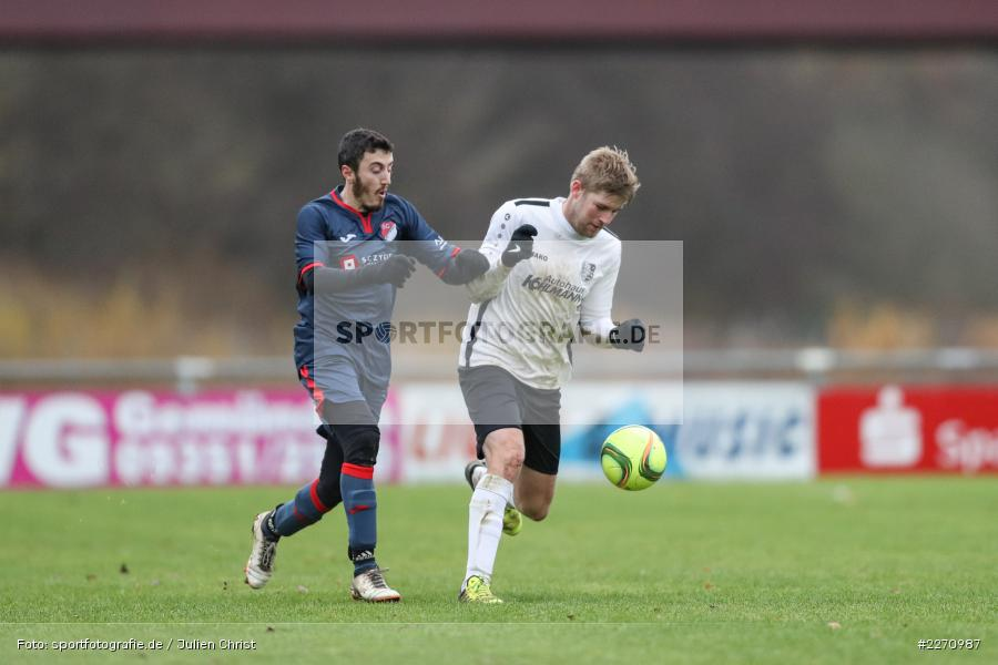 Felix Gold, Ali Ceylan, 01.12.2019, Kreisliga Würzburg, SG Hettstadt, TSV Karlburg II - Bild-ID: 2270987