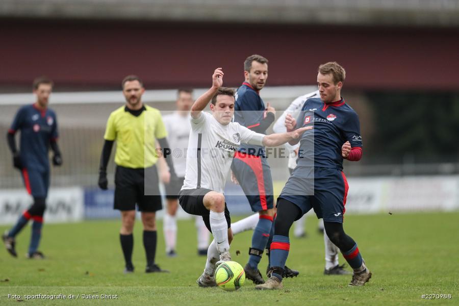 Jan Gehr, Marcel Frank, 01.12.2019, Kreisliga Würzburg, SG Hettstadt, TSV Karlburg II - Bild-ID: 2270988