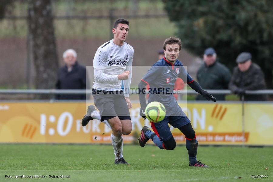 Max Lambrecht, Sebastian Schebler, 01.12.2019, Kreisliga Würzburg, SG Hettstadt, TSV Karlburg II - Bild-ID: 2270997