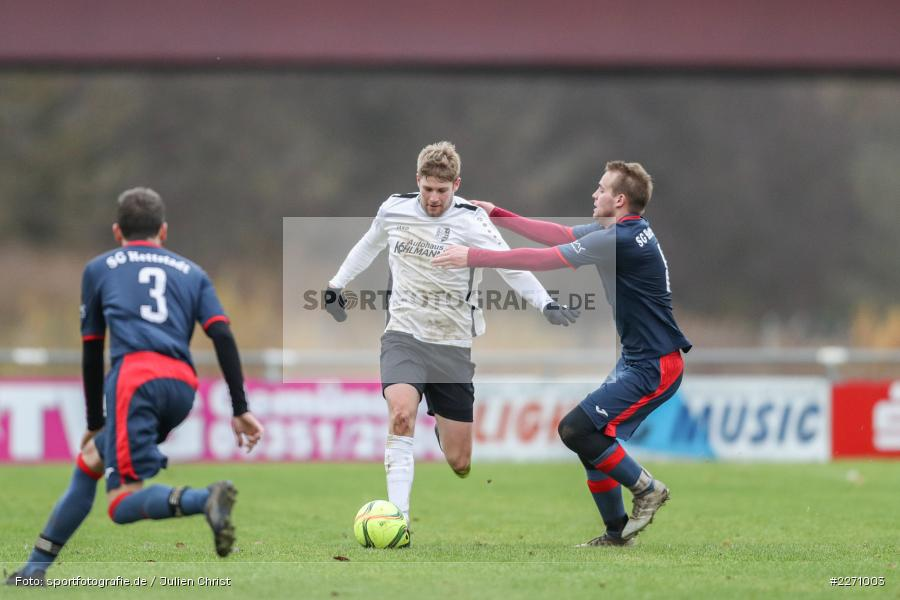 Felix Gold, Jan Gehr, 01.12.2019, Kreisliga Würzburg, SG Hettstadt, TSV Karlburg II - Bild-ID: 2271003