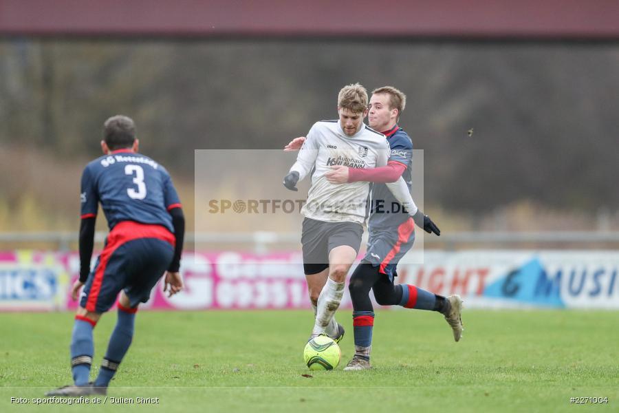 Felix Gold, Jan Gehr, 01.12.2019, Kreisliga Würzburg, SG Hettstadt, TSV Karlburg II - Bild-ID: 2271004
