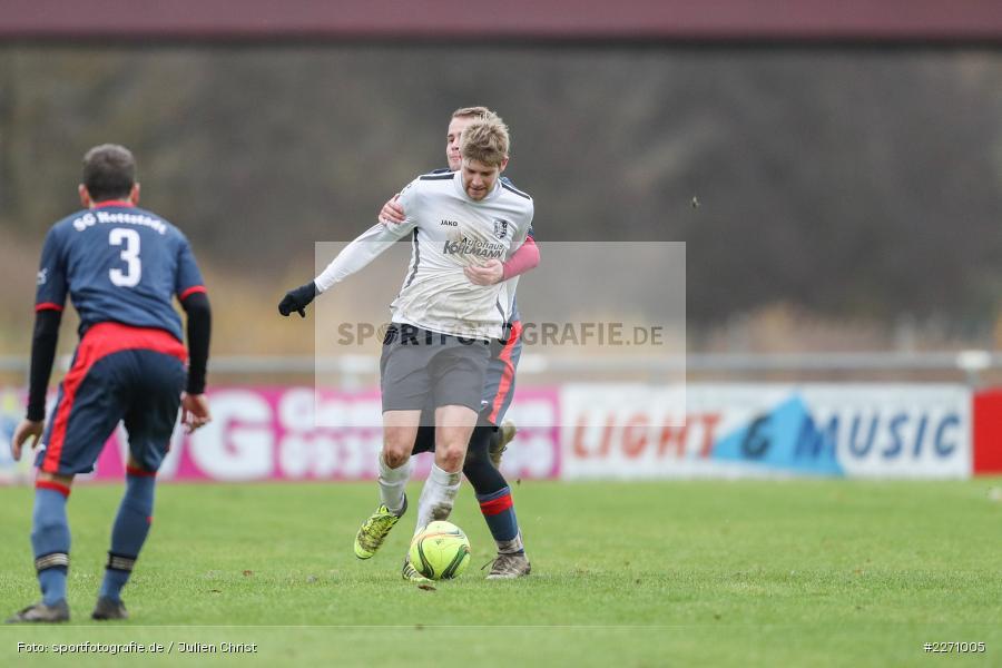 Felix Gold, Jan Gehr, 01.12.2019, Kreisliga Würzburg, SG Hettstadt, TSV Karlburg II - Bild-ID: 2271005