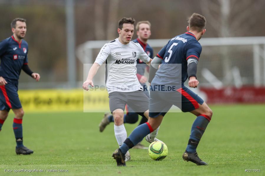 Jannik Scheblein, Marcel Frank, 01.12.2019, Kreisliga Würzburg, SG Hettstadt, TSV Karlburg II - Bild-ID: 2271012