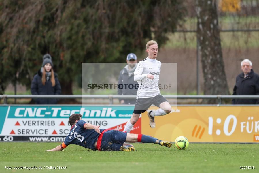 Maximilian Strick, Florian Sauer, 01.12.2019, Kreisliga Würzburg, SG Hettstadt, TSV Karlburg II - Bild-ID: 2271013
