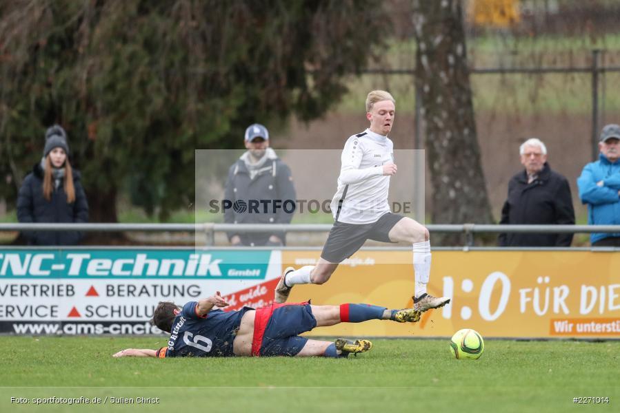 Maximilian Strick, Florian Sauer, 01.12.2019, Kreisliga Würzburg, SG Hettstadt, TSV Karlburg II - Bild-ID: 2271014