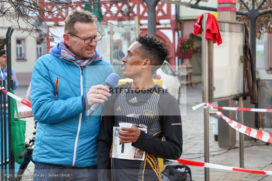 Günther Felbinger, Filimon Habtemikael, 11.01.2020, LG Main-Spessart, LG Karlstadt, 30. Staustufenlauf Karlstadt - Bild-ID: 2271515