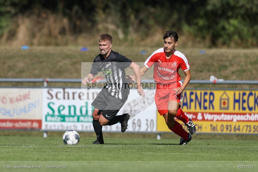 Veron Baumann, Philipp Gößwein, TV Wasserlos, TSV Retzbach, Bezirksliga Unterfranken West, 20.09.2020 - Bild-ID: 2279525