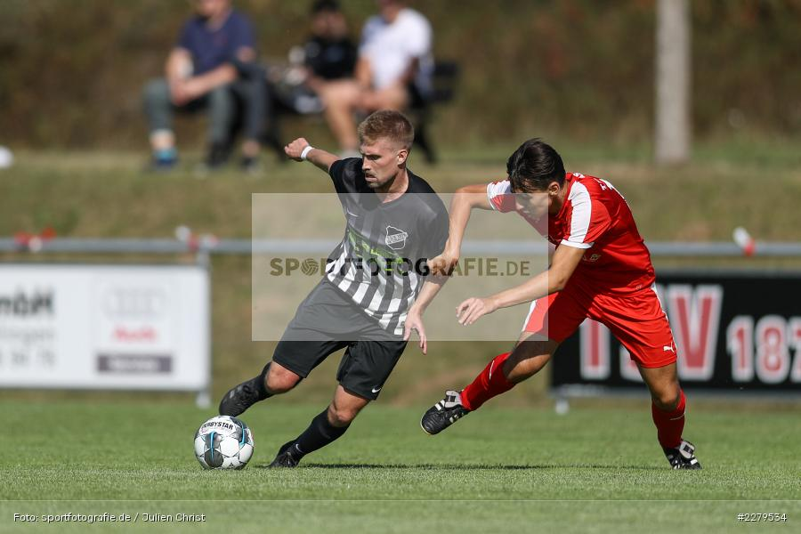 Veron Baumann, Philipp Gößwein, TV Wasserlos, TSV Retzbach, Bezirksliga Unterfranken West, 20.09.2020 - Bild-ID: 2279534