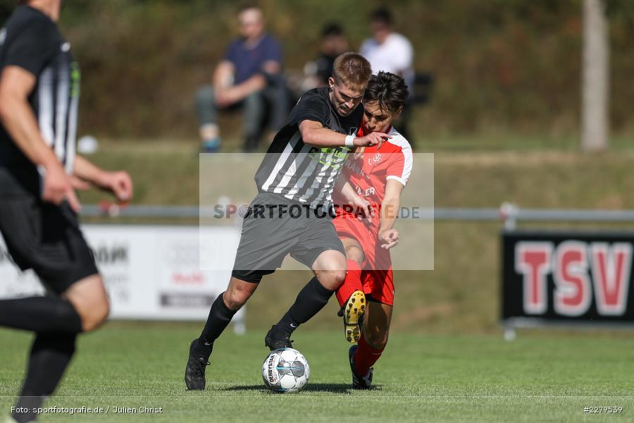 Veron Baumann, Philipp Gößwein, TV Wasserlos, TSV Retzbach, Bezirksliga Unterfranken West, 20.09.2020 - Bild-ID: 2279539