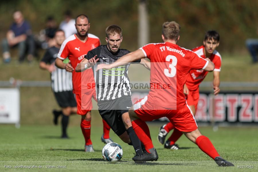Tim Sengfelder, Philipp Gößwein, TV Wasserlos, TSV Retzbach, Bezirksliga Unterfranken West, 20.09.2020 - Bild-ID: 2279542