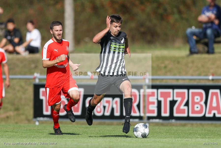 Dominik Hehrlein, TV Wasserlos, TSV Retzbach, Bezirksliga Unterfranken West, 20.09.2020 - Bild-ID: 2279598