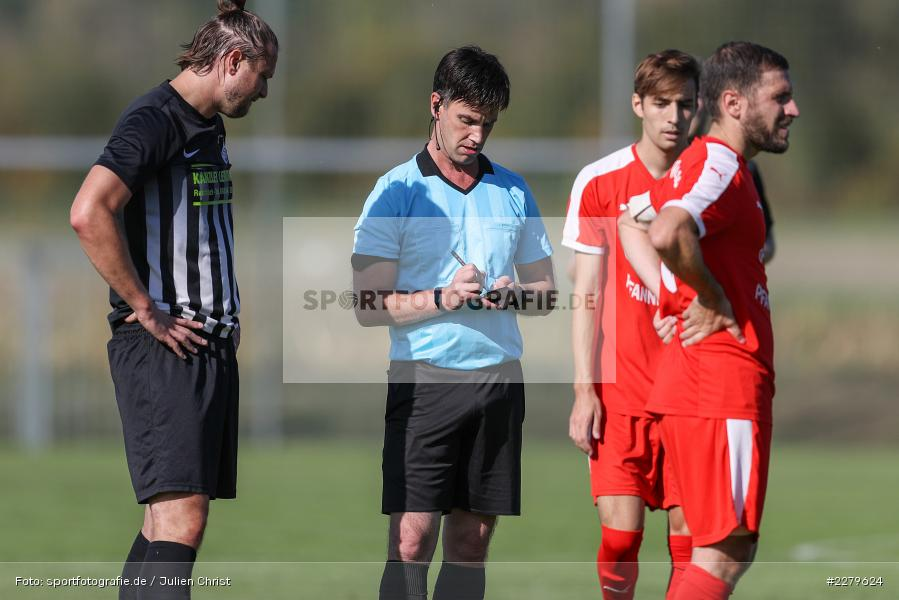 Schiedsrichter, Bastian Hain, Björn Söllner, TV Wasserlos, TSV Retzbach, Bezirksliga Unterfranken West, 20.09.2020 - Bild-ID: 2279624