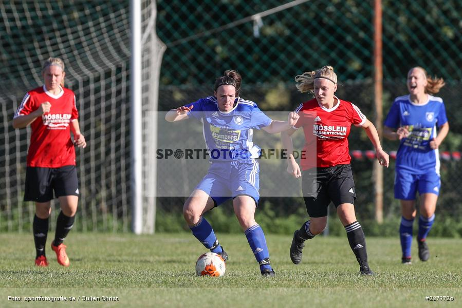 Nina Höfer, Lisa Blum, 20.09.2020, Landesliga Nord Frauen, SpVgg Germania Ebing, FC Karsbach - Bild-ID: 2279726