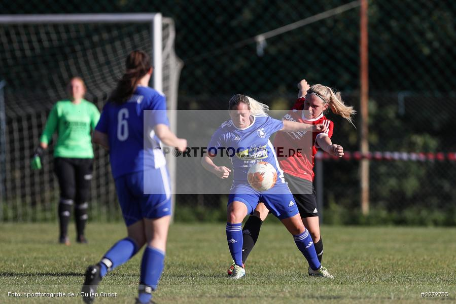 Lisa Blum, Caroline Eberth, 20.09.2020, Landesliga Nord Frauen, SpVgg Germania Ebing, FC Karsbach - Bild-ID: 2279733