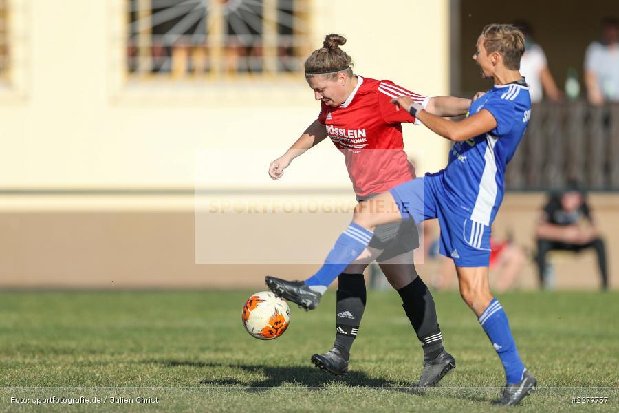 Lisa Sommer, Laura Rosenberger, 20.09.2020, Landesliga Nord Frauen, SpVgg Germania Ebing, FC Karsbach - Bild-ID: 2279737