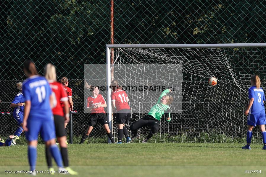 Melissa Mennig, Lisa Sommer, 20.09.2020, Landesliga Nord Frauen, SpVgg Germania Ebing, FC Karsbach - Bild-ID: 2279754