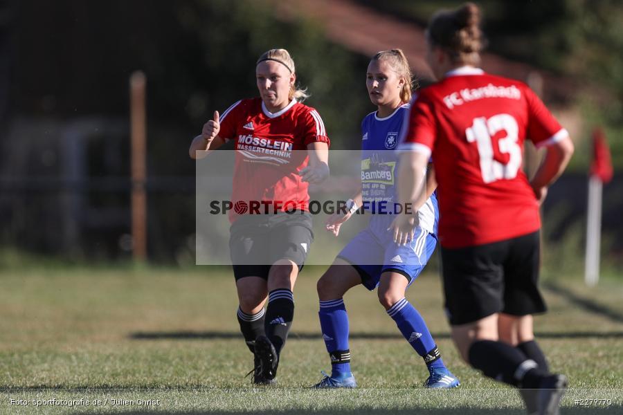 Rebecca Müller, Lisa Blum, 20.09.2020, Landesliga Nord Frauen, SpVgg Germania Ebing, FC Karsbach - Bild-ID: 2279770