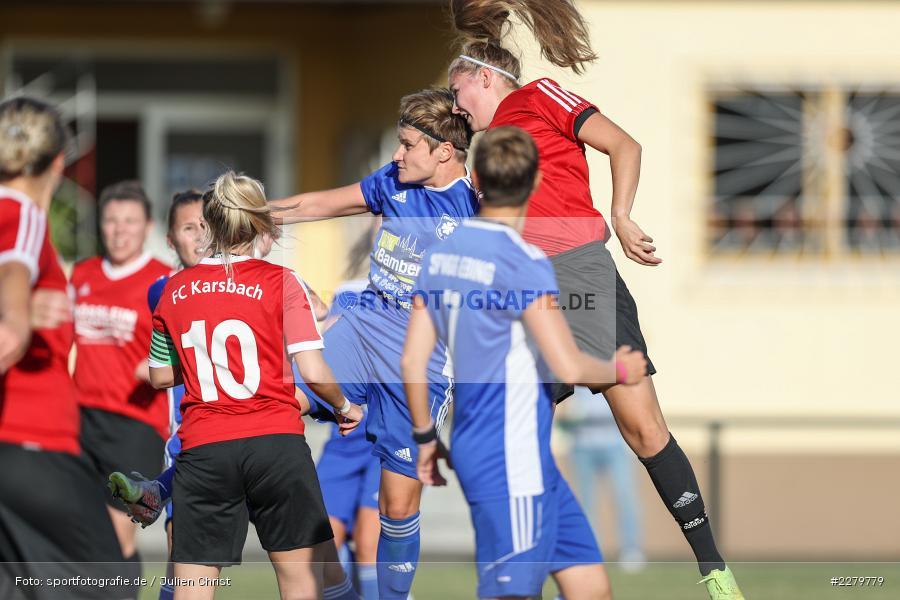 Nina Häublein, Tamira Stegmann, 20.09.2020, Landesliga Nord Frauen, SpVgg Germania Ebing, FC Karsbach - Bild-ID: 2279779