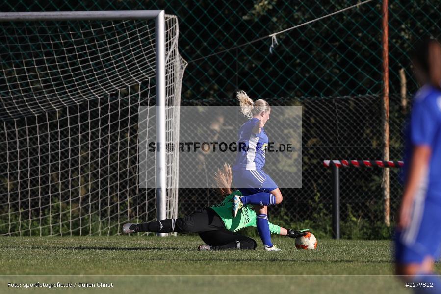 Melissa Mennig, Caroline Eberth, 20.09.2020, Landesliga Nord Frauen, SpVgg Germania Ebing, FC Karsbach - Bild-ID: 2279822