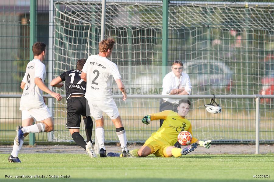 Leon Vollmuth, Robin Michel, Ligapokal, Landesliga Nord, 22.09.2020, TSV Unterpleichfeld, ASV Rimpar - Bild-ID: 2279851