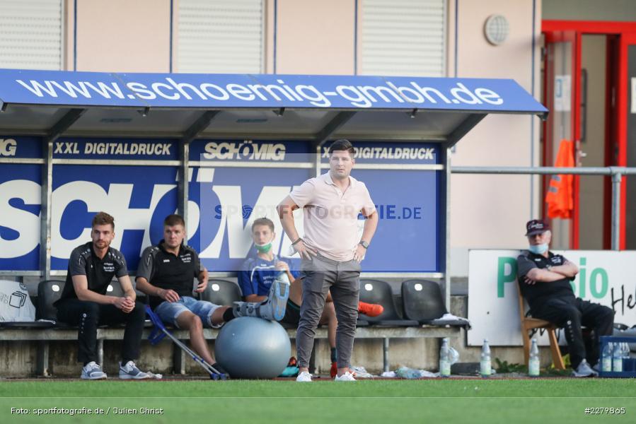 Trainer, Marcel Heck, Ligapokal, Landesliga Nord, 22.09.2020, TSV Unterpleichfeld, ASV Rimpar - Bild-ID: 2279865