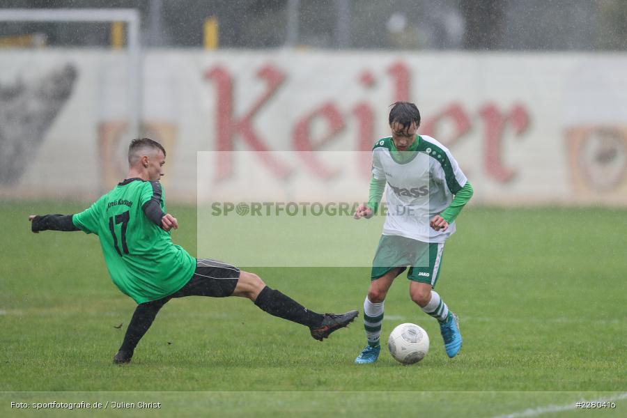 Liam Trasoruk, Max Krug, Sportgelände, Karlstadt, 26.09.2020, sport, action, Fussball, September 2020, (SG) DJK-TuS Aschaffenburg-Leider, (SG) FV Karlstadt - Bild-ID: 2280416