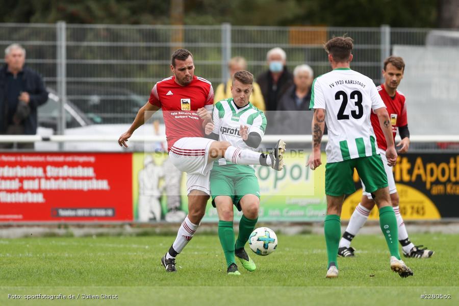Niklas Scherer, Christopher Gebert, Sportgelände, Karlstadt, 27.09.2020, sport, action, Fussball, September 2020, SV Altfeld, FV Karlstadt - Bild-ID: 2280562