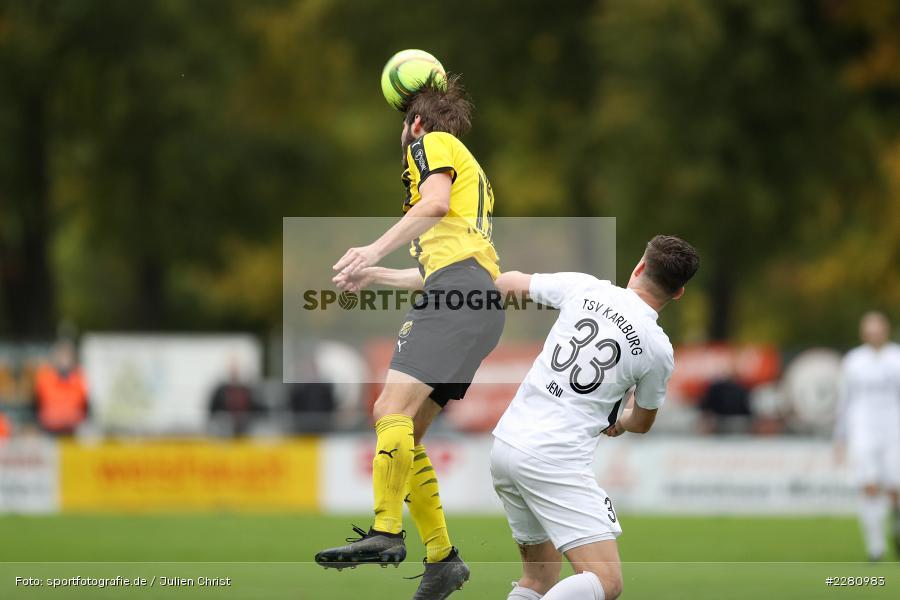 Pascal Jeni, David Romminger, Sportgelände, Karlburg, 03.10.2020, sport, action, Fussball, Bayernliga Nord, Oktober 2020, DJK Vilzing, TSV Karlburg - Bild-ID: 2280983